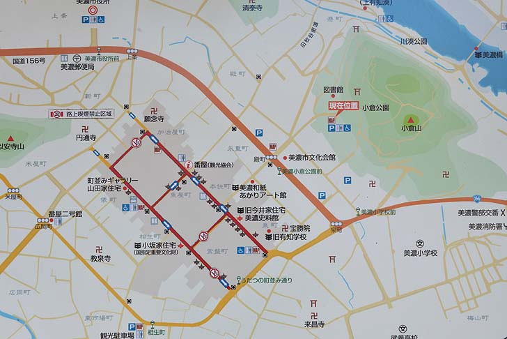 美濃市観光地図