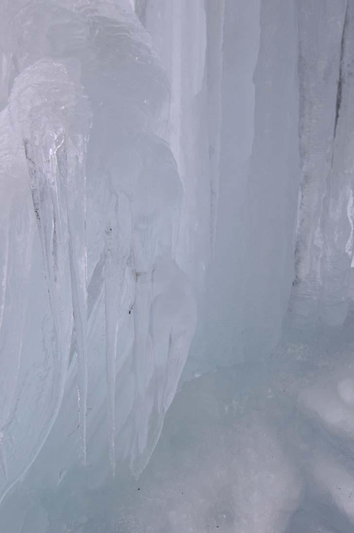 氷瀑のアップ