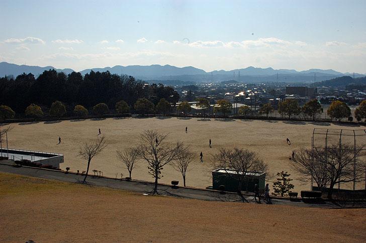 富加町のグラウンド