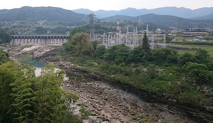 落合ダムと落合発電所