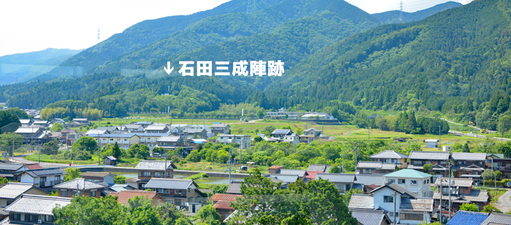 岐阜関ヶ原古戦場記念館の展望室からの眺め