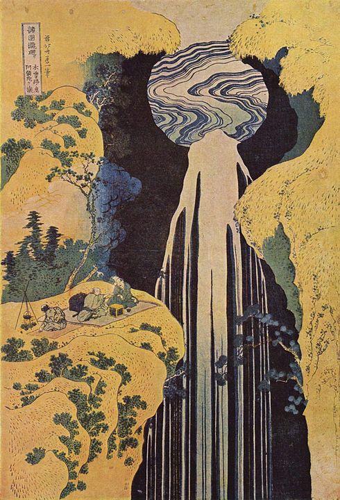 葛飾北斎が描いた阿弥陀が滝